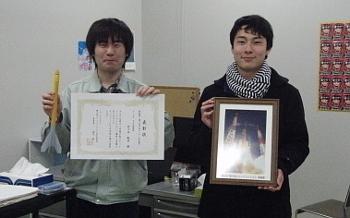 佐々木航星さん(左)と藤井遼太さん