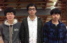 ボランティア登録学生。左から宮口さん、宮沢さん、豊田さん