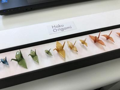 「Haku Origami(TM)」オブジェ