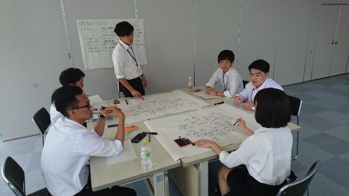 就業体験の模様(2017年8月30日、三谷産業株式会社にて)