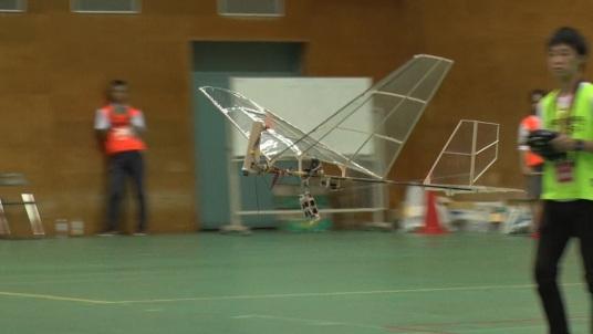 優勝した夢考房チームの機体「KFE(カナザワ・フライング・イーグル)」