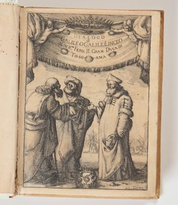 ガリレオ・ガリレイ 『プトレマイオス及びコペルニクスの世界二大体系についての対話』フィレンツェ,1632年,初版,金沢工業大学所蔵