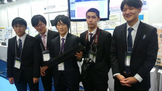 優勝した金沢工業大学大学院高信頼ものづくり専攻博士前期課程1年生チーム