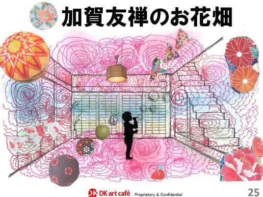 加賀友禅のお花畑