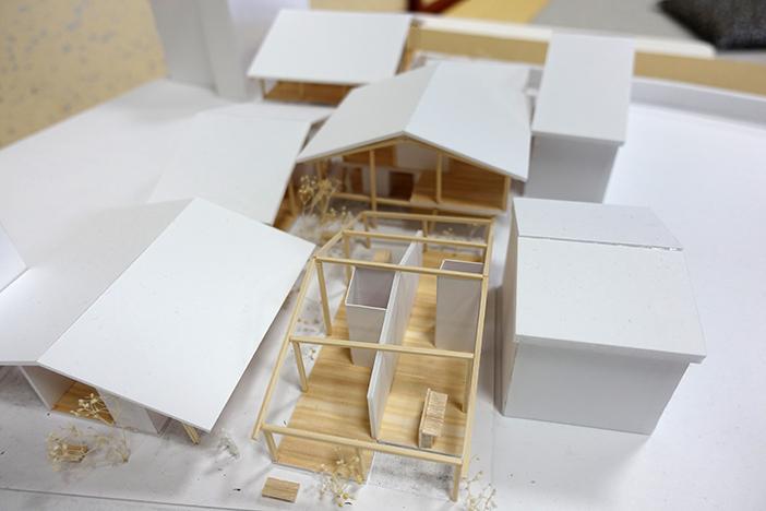 提案の一つ「町家と路地の形式を用いて新しいコミュニティの在り方を提案した集合住居」