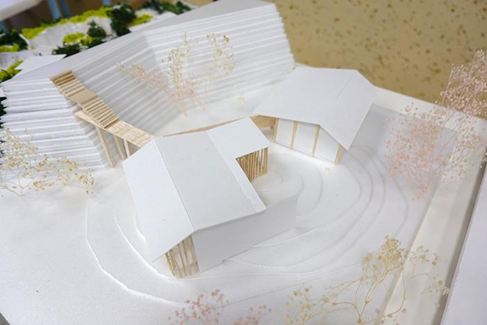 提案の一つ「卯辰山寺院群の中に、金沢の自然を体験・理解するための茶室と瞑想空間」