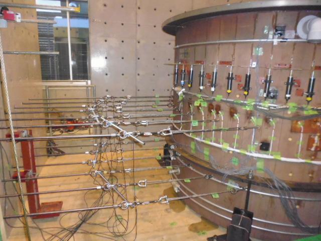 静加力実験の模様