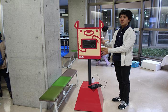 のっティの位置情報を表示するバス停型端末のプロトタイプ