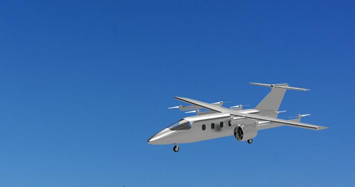 開発を目指す8人乗り電動垂直離着陸機(Temma Webページ https://www.temma.io/ より)