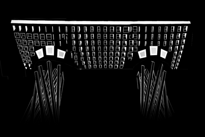 自動生成型プロジェクションマッピング 「構築」(約4分)のイメージ