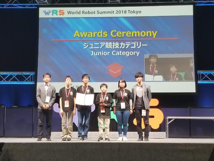 人工知能学会賞受賞を受賞したチーム「Yumekobo Junior」