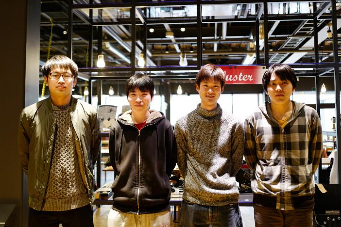 左から林田泰河さん、廣澤拳さん、樋田嵩斗さん、田島和輝さん