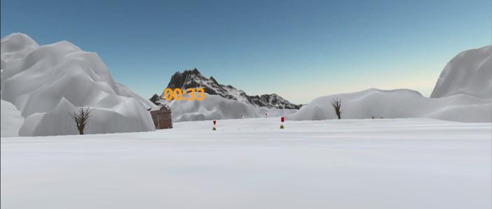 VRで雪原が広がる