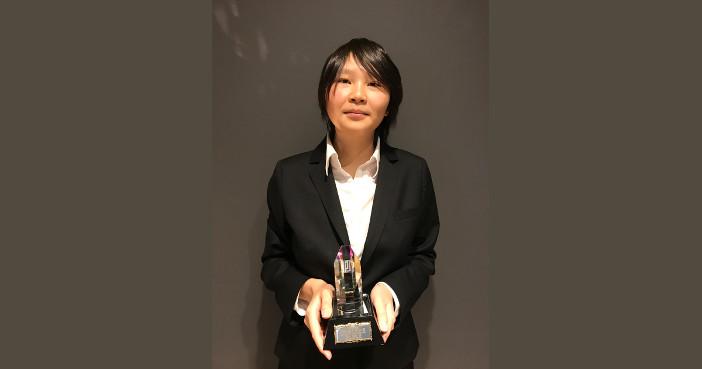 学部4年次で受賞した栁澤理紗さん