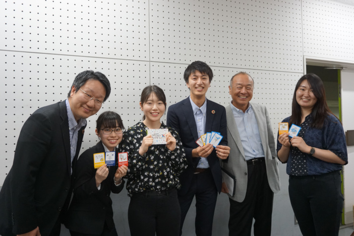 神田外語大学のみなさんと(写真左 平本督太郎センター長)