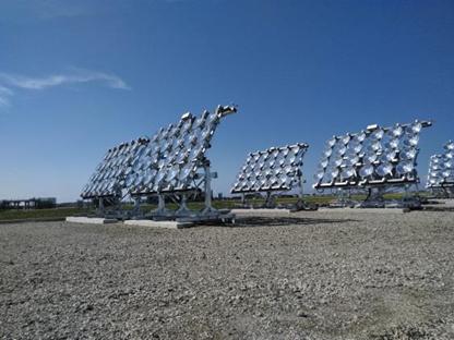現状の架台式「iU-SOALA」。パラボラ型集光レンズを搭載