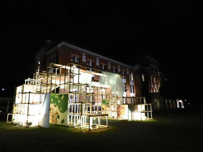金澤月見光路 試験点灯(令和元年10月10日 しいのき迎賓館正面側広場)