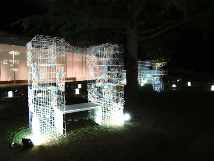 金澤月見光路 試験点灯(令和元年10月10日 金沢21世紀美術館市役所口広場)