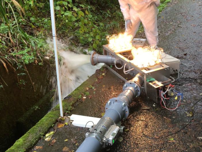 開水路2 発電実験