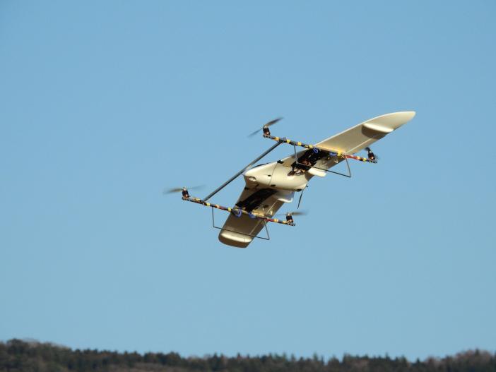 2019年12月25日、手取川河川敷で遷移飛行実験が行われた