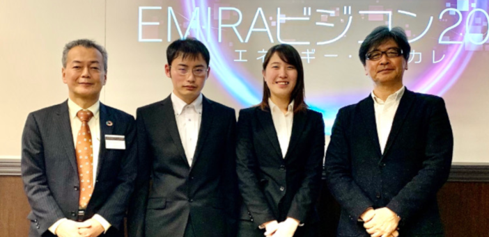 (左から)東京電力ESG推進室 野村威室長、高橋克茂さん、香林亜実さん、松林教授