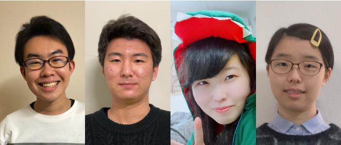 メンバーの(右から)保科洸成さん、三ケ山優斗さん、依田直恵さん、田中小姫子さん
