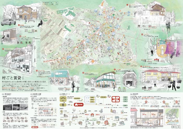 共同作品「村ごと賃貸! -野沢温泉村における湯仲間の再編と新村人の賃貸住宅の設計-」