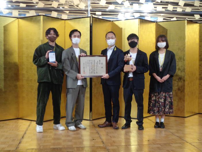 優秀賞を獲得した宮下研究室Aチーム