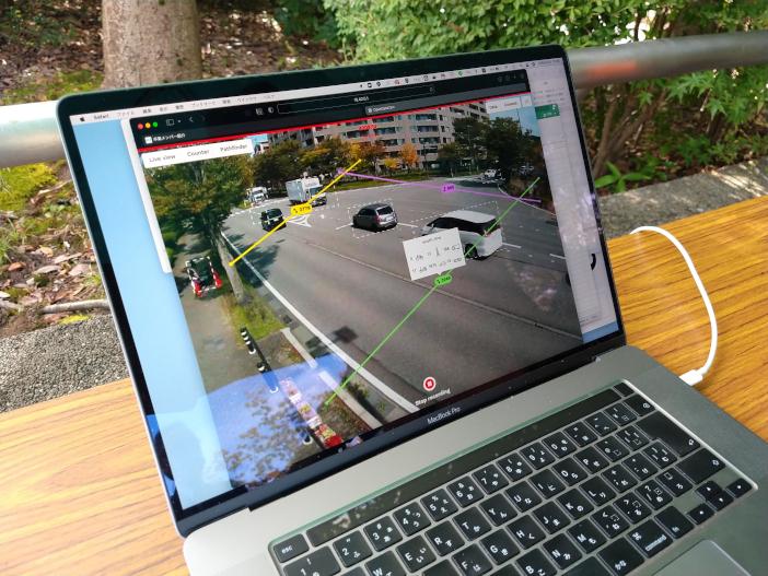 カメラの映像から交通量を自動計測する